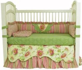 Summer breeze 3 piece crib bedding