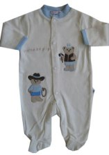 Preemie Cowboy Coverall By Cotton Candy