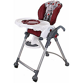 combi hero highchair in chili
