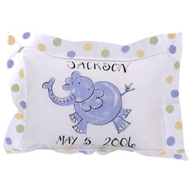personalized elephant pillow