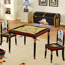 pirate table and chair set