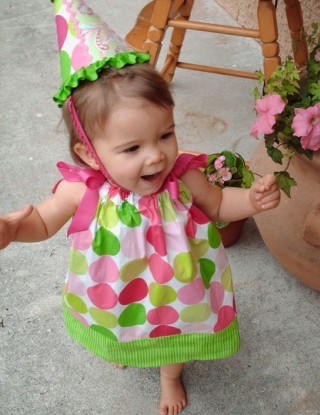 Polka  Dress on Pink And Green Polka Dot Dress Pictures 4
