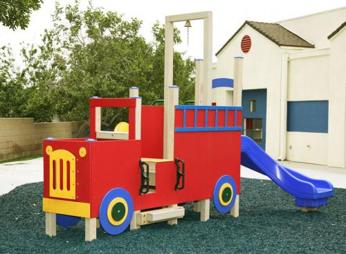 play ground equipment fire truck