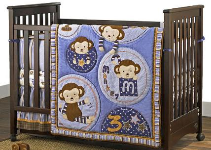 Monkey-Mania-crib-set