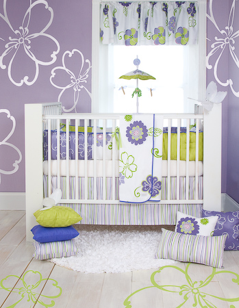 The trendiest baby room ideas for the perfect nursery look for Baby girl crib decoration ideas