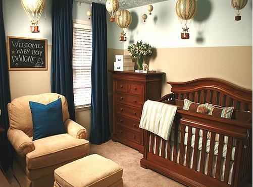 Colors to decorate the baby boy nursery