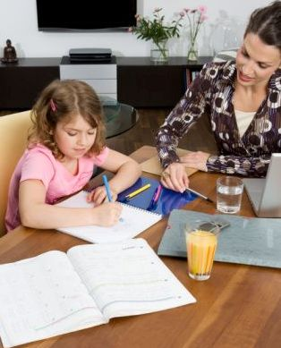 parent helping child in education